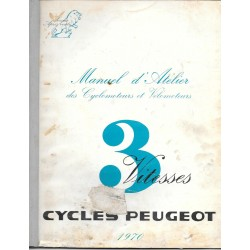 PEUGEOT BB 50 cc 3 vitesses à main (manuel atelier 02 / 70)