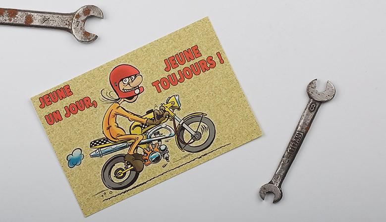 Carte  Motocyclettes timbrées 1